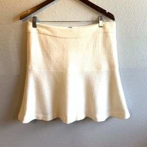Ann Taylor wool skirt white
